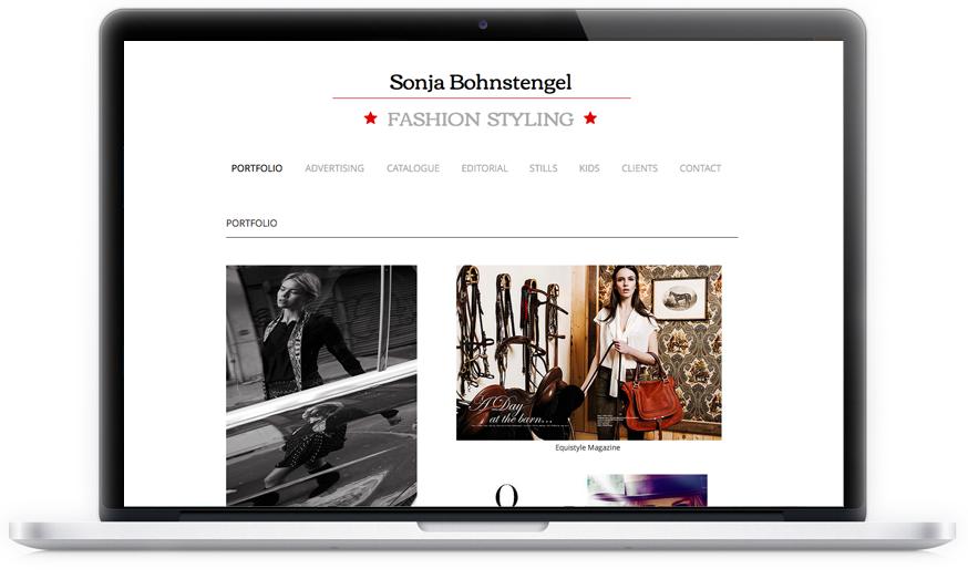 Die Modesytlistin hat sich 2014 eine repräsentative Webseite für die Präsentation ihrer Referenzen gewünscht.