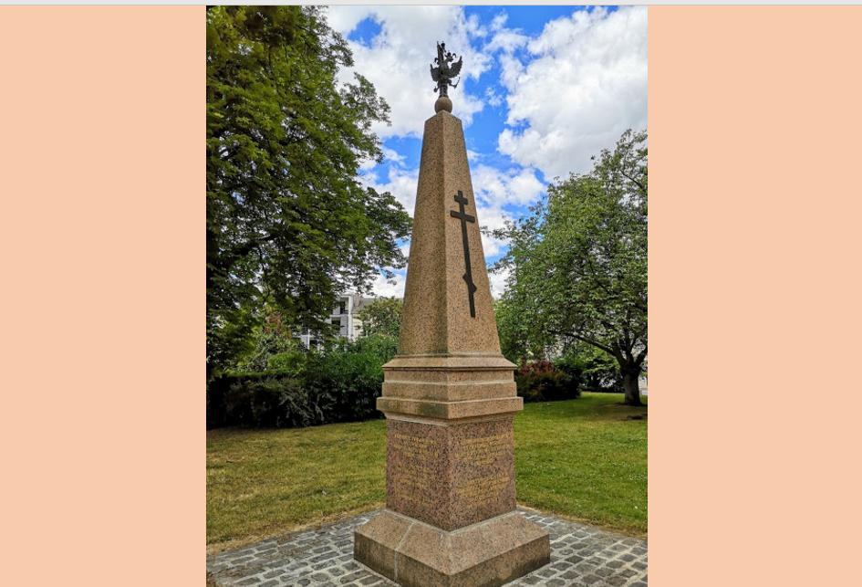 À Reims, l'affaire des monuments russes dans le parc Saint-Remi.