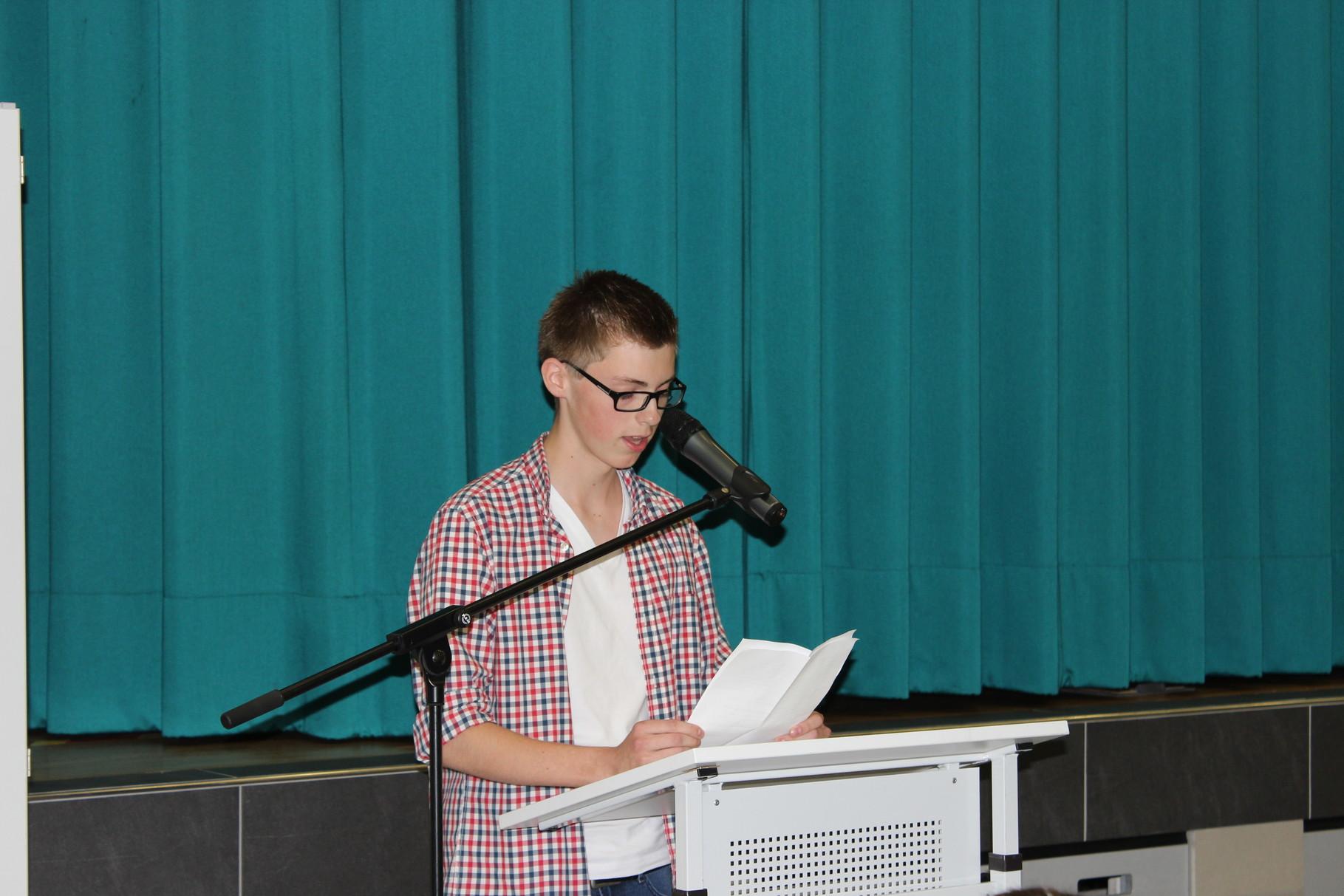 Schülersprecher Carsten Wingbermühlen