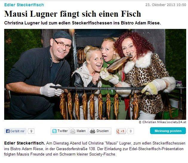 fischgenuss Chef Andreas Nägler mit Christina Lugner, Sängerin Niddl und Box-Europameisterin Eva Voraberger