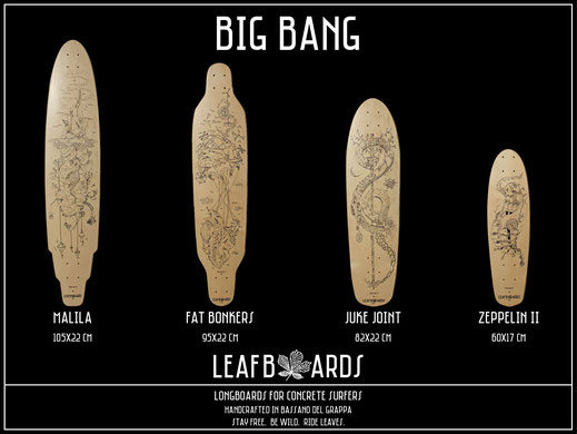 Longboard deck big bang