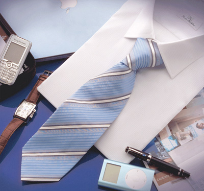 Corbata azul listados