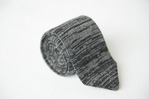 Corbata de punto melange en seda