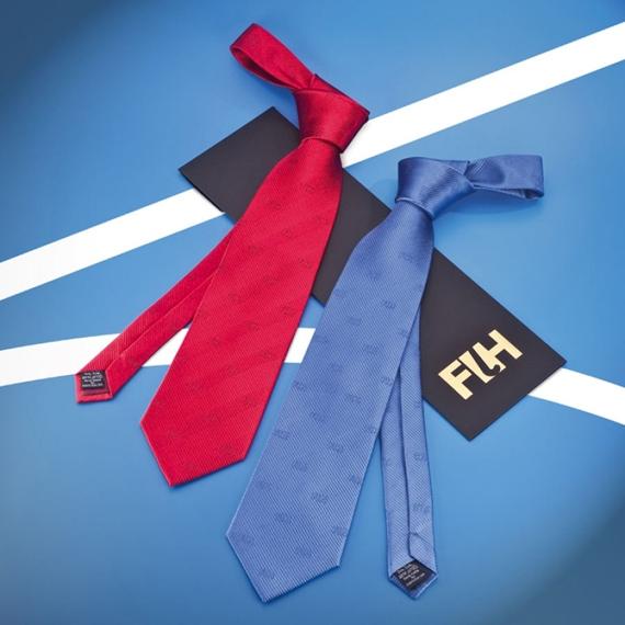 Corbata seda con logos, Federation International Hockey, Suiza