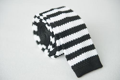 Corbata de punto  en seda