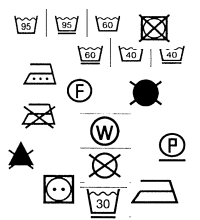 Symbolos de tratamiento de corbatas