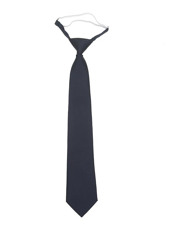 Corbata con goma azul