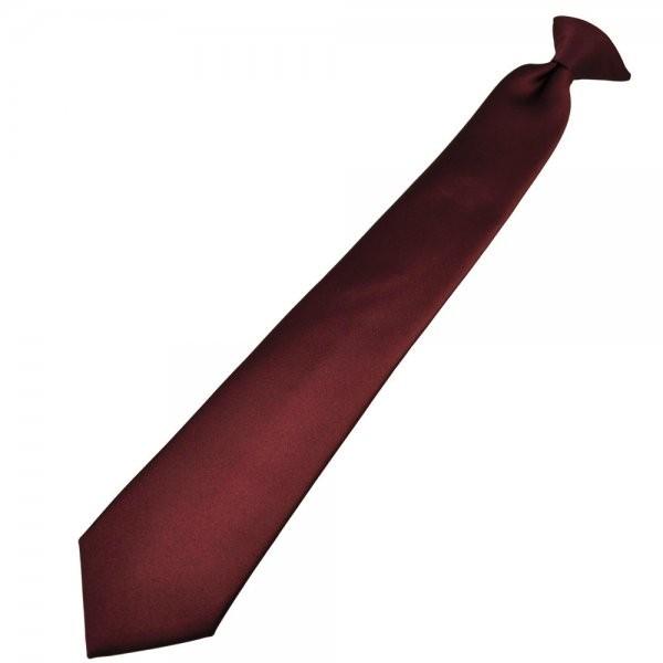 Corbata con clip marrón