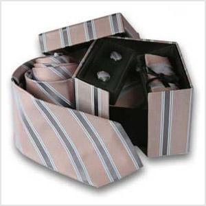 Caja regalo Corbata con gemelos y Pañuelo de bolsillo