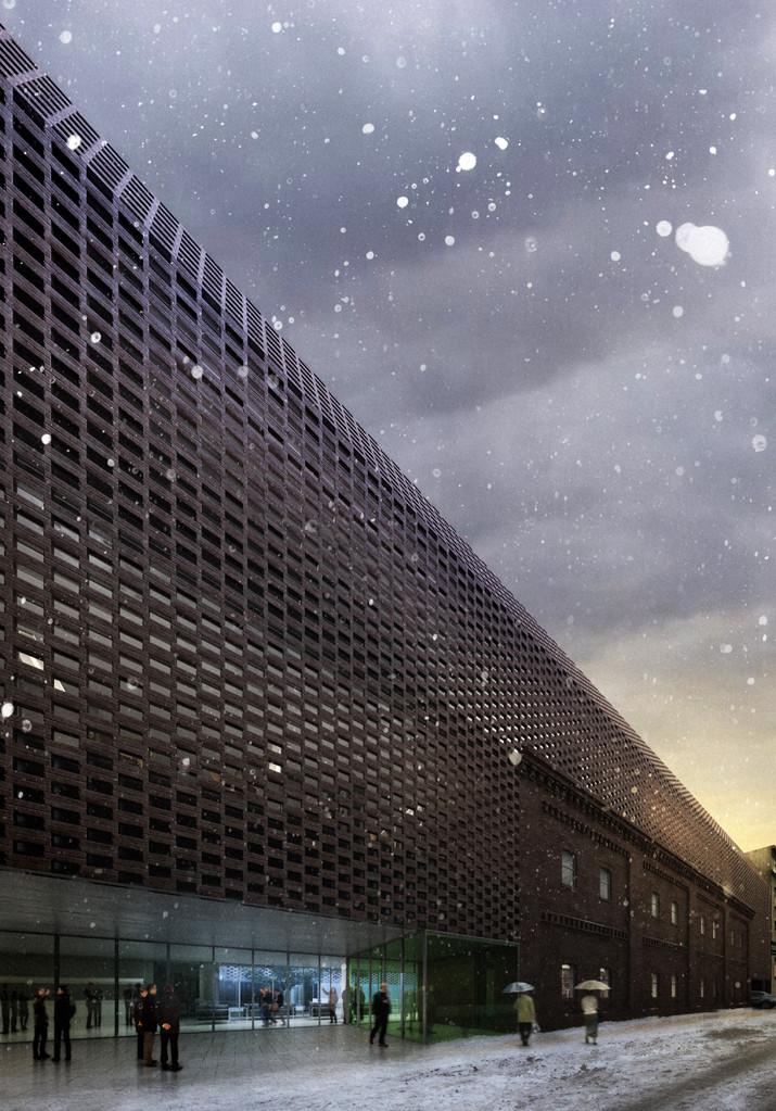 Faculté de Radio et Télévision Katowice, Pologne. BAAS arquitectura