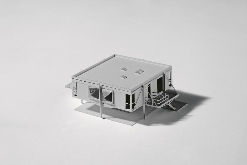 Maison Sterckeman, maquette 2012. Façade nord-est.© Arnauld Duboys Fresney