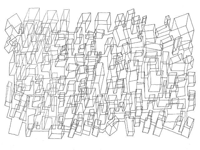 UTTARAYAN  « Evaluation foncière - version 1 » - 2013 Pilot Vball 5 sur papier Arches grain fin 300g / 18x26cm