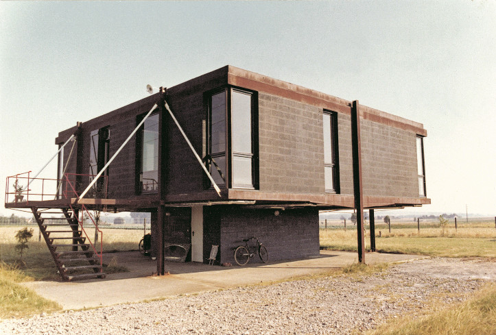 Maison Sterckeman, 1972 Vue générale de la façade nord, © Paul Chemetov