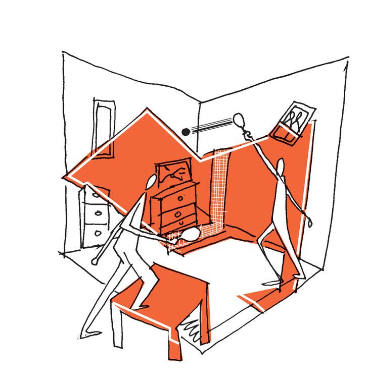 ## La pièce : Jean-Mi a cassé la télé du salon)