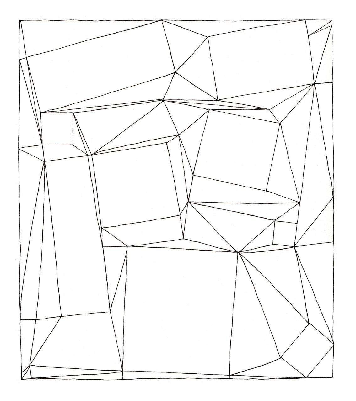 UTTARAYAN « pliage cadré – version 10 » - 2014 Pilot Vball 5 sur papier Clairefontaine grain léger 224g / 21x23,7cm