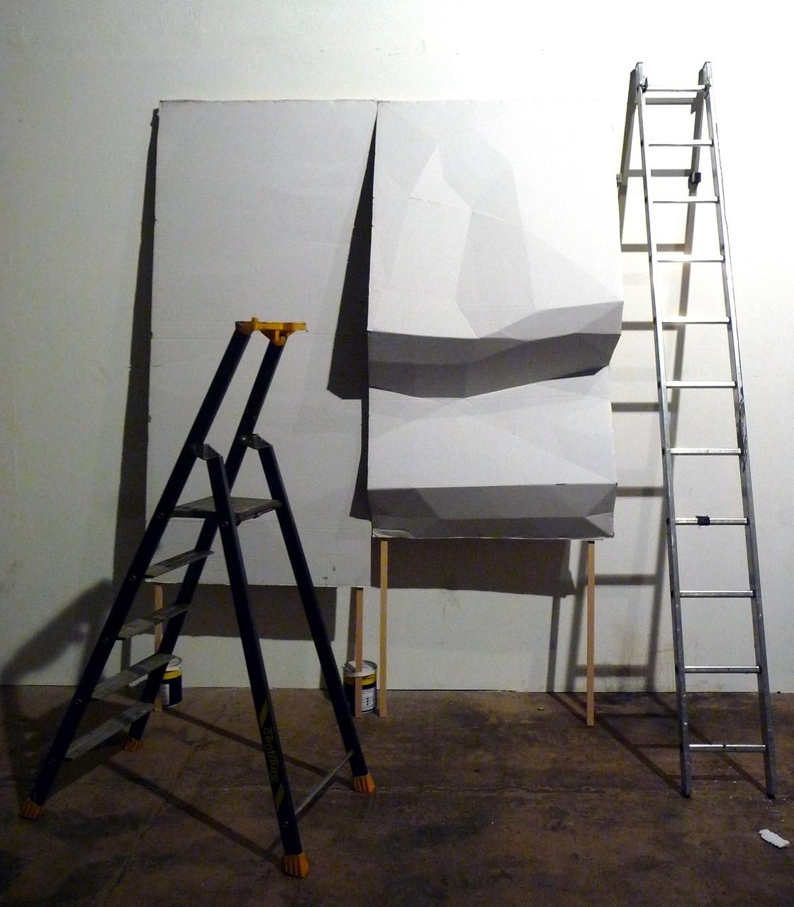 UTTARAYAN « Mise en forme – version 1 » – 2014 Hahnemühle Photo Rag 308g sur Dibond / 200x175cm IPN