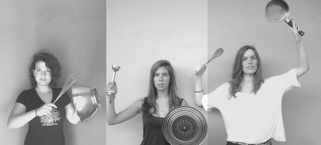 # L'équipe : Carole Ficat, étudiante en architecture - Mathilde Malan, étudiante en architecture - Morgane Vernic, étudiante en design et couleur (cuisine et resonances)