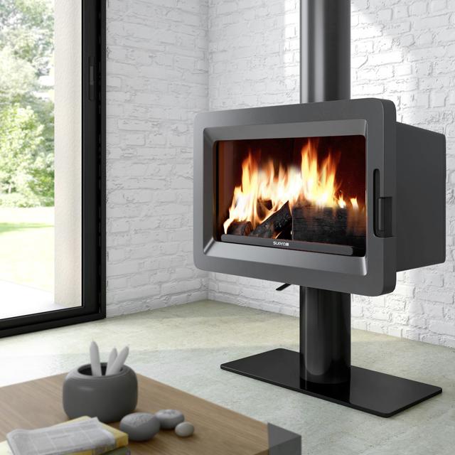 Po les bois industriel poeles inserts et cheminees for Poele a bois horizontal