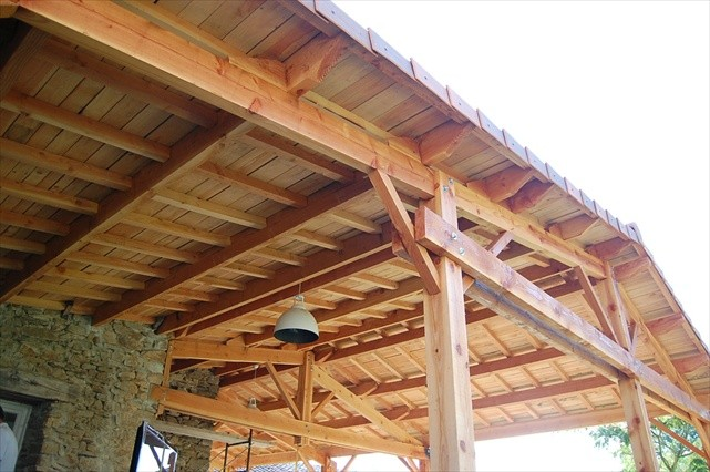 douglas fir construction - designed and constructed by Sunman carpentry