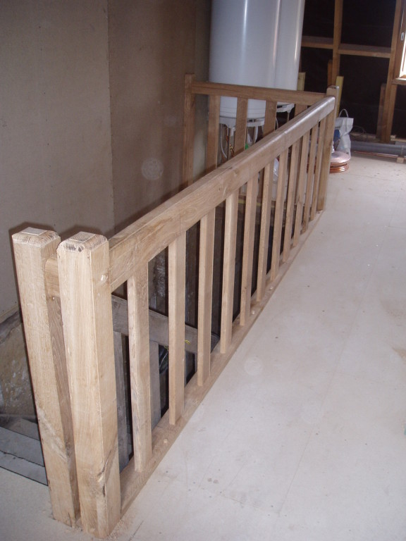 Limousin style handrail and spindles made to match existing staircase