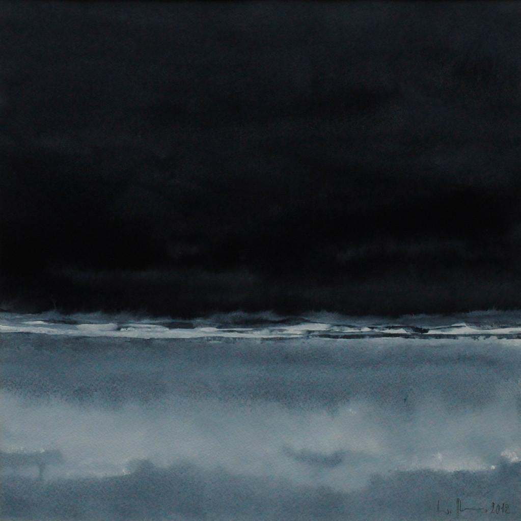 NÄCHTLICHES, 2012, Aquarell, 30 x 30cm