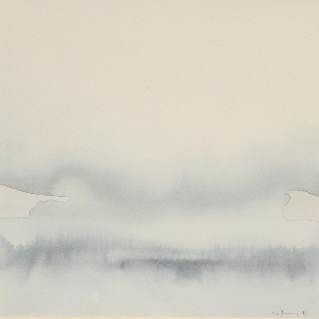 NEBEL, 2012, Aquarell, 30 x 30cm