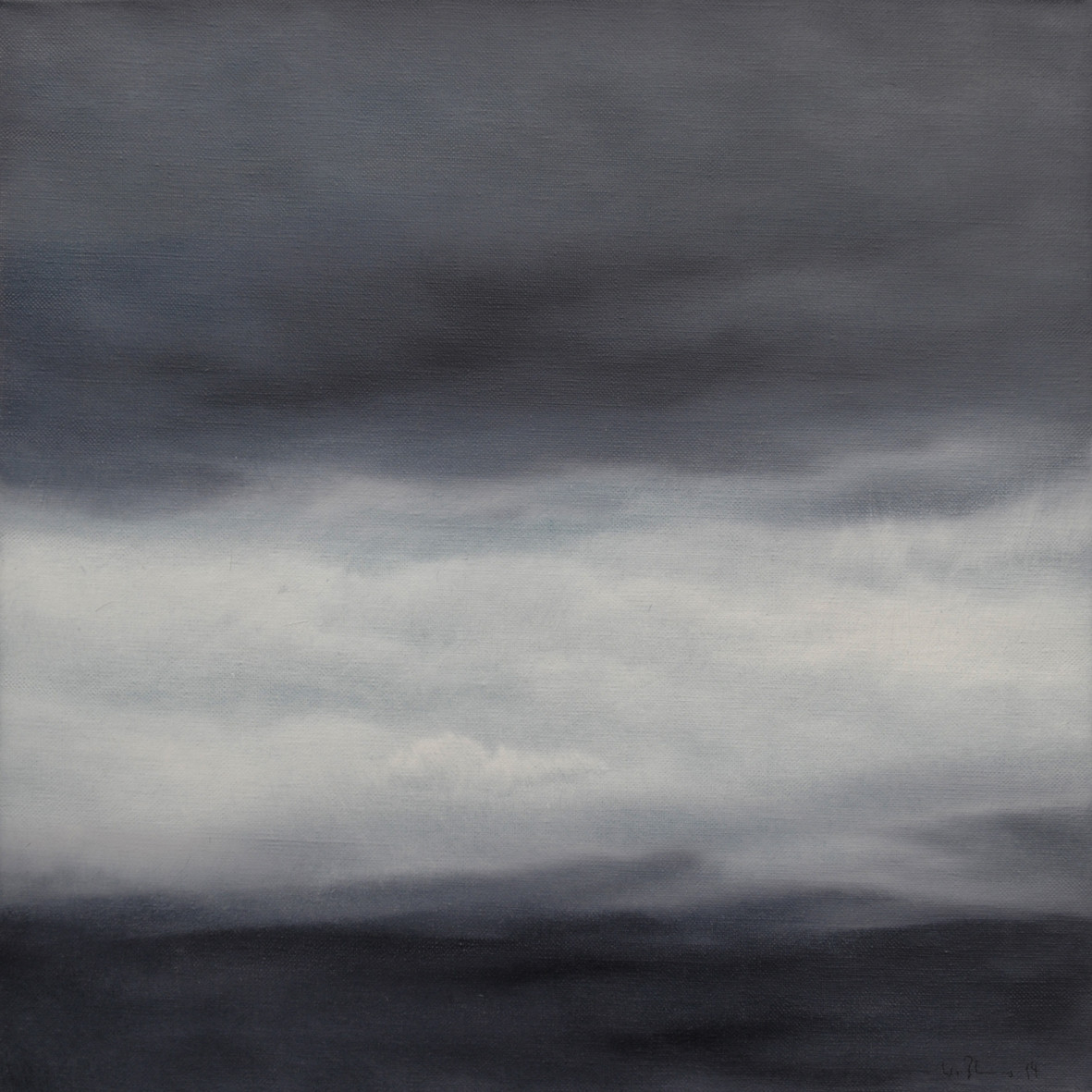 KOMPOSITION 2, 2014, Öl/Lwd., 50 x 50cm
