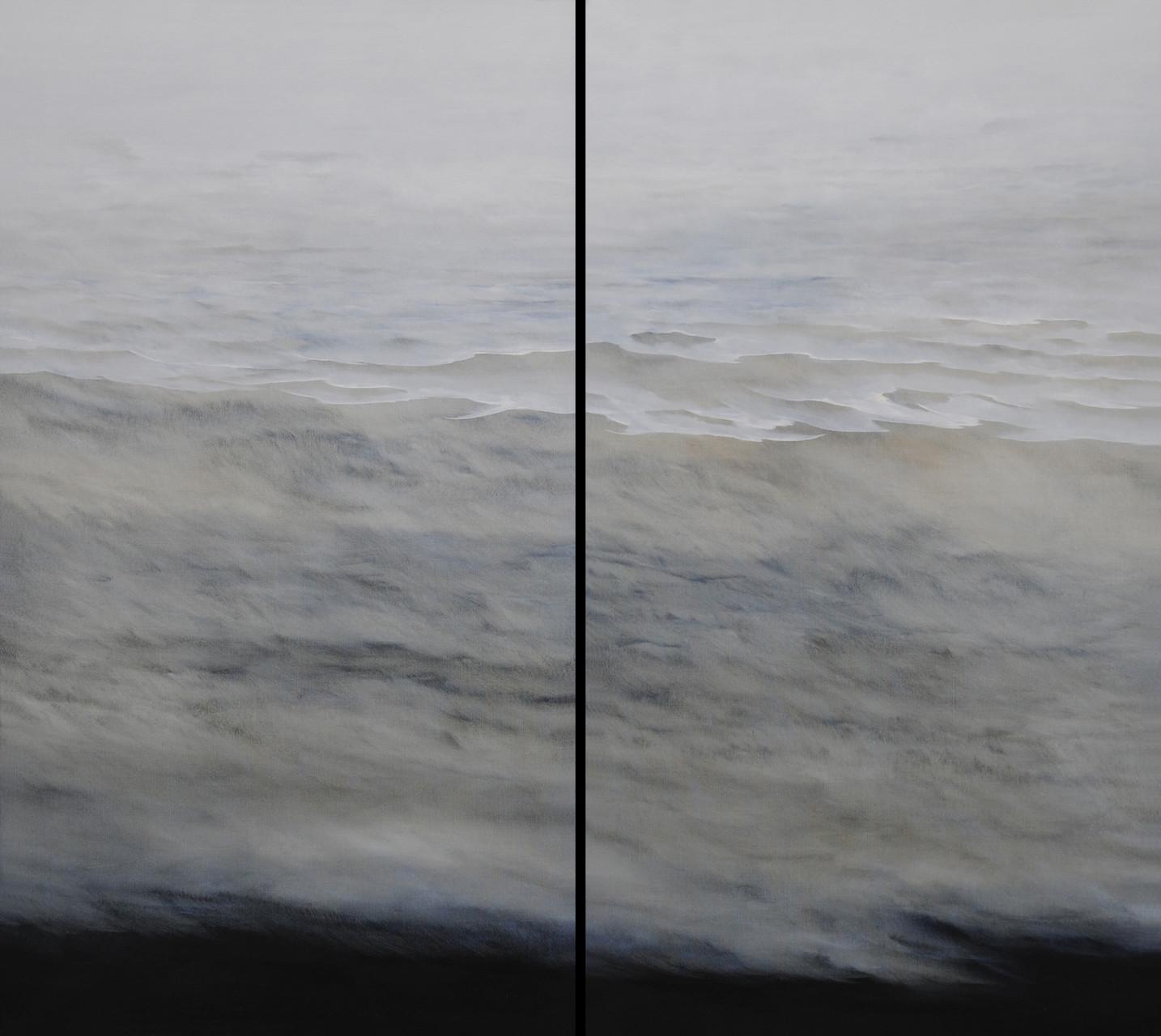 OHNE TITEL, Diptychon, 2011, Öl/Lwd., 2 x 100 x 180cm