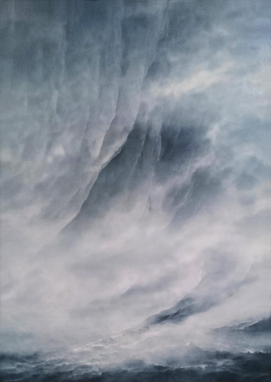 DIE WAND, 2016, Öl/Lwd., 140 x 100cm
