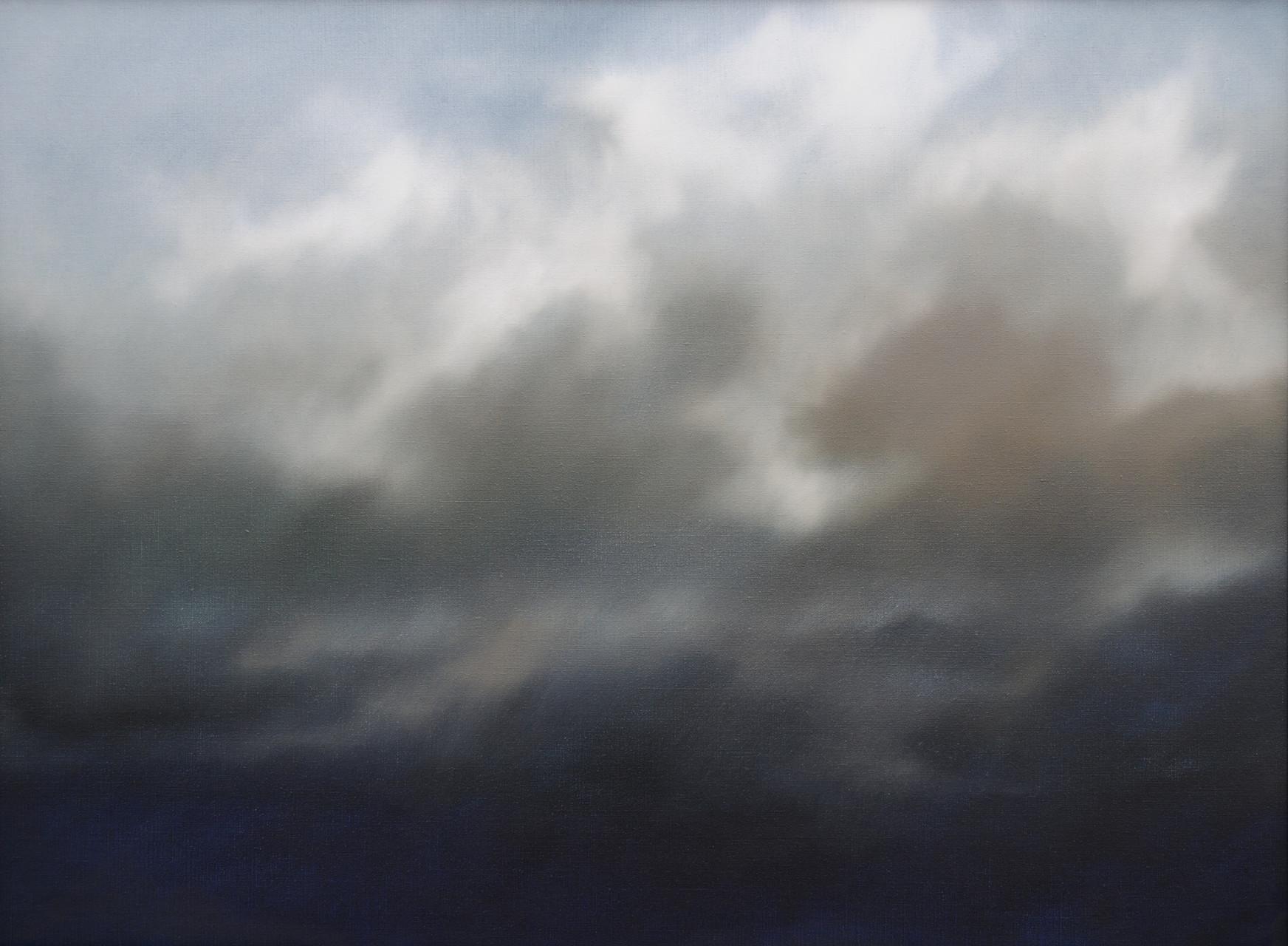 KOMPOSITION ... IN GEDANKEN AN DAS GOLDENE ZEITALTER, 2015, Öl/Lwd., 78 x 105cm