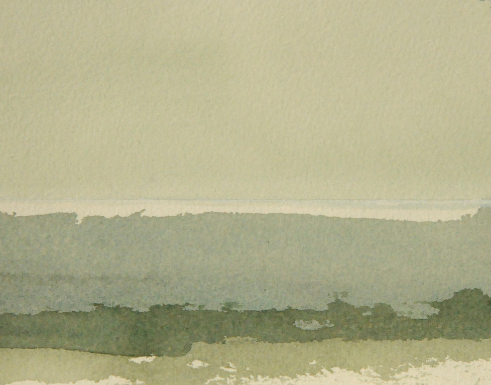 OSTSEESTUDIE, 2008, Aquarell, 11 x 15cm