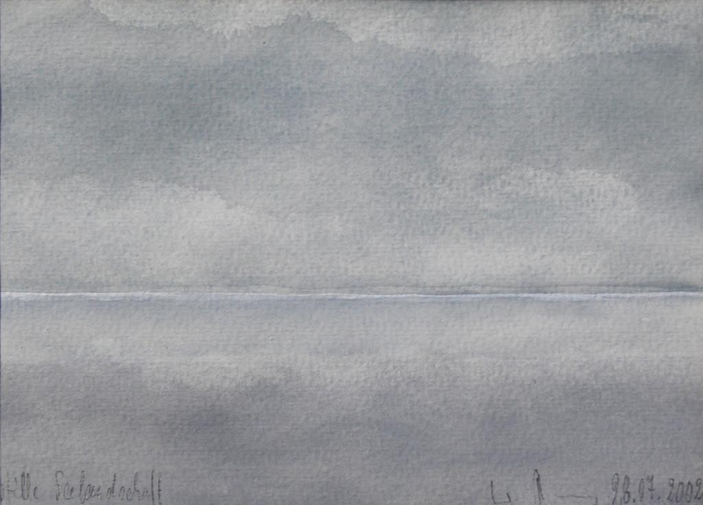 STILLE SEELANDSCHAFT, 2002, Aquarell, 12,5 x 16,5cm