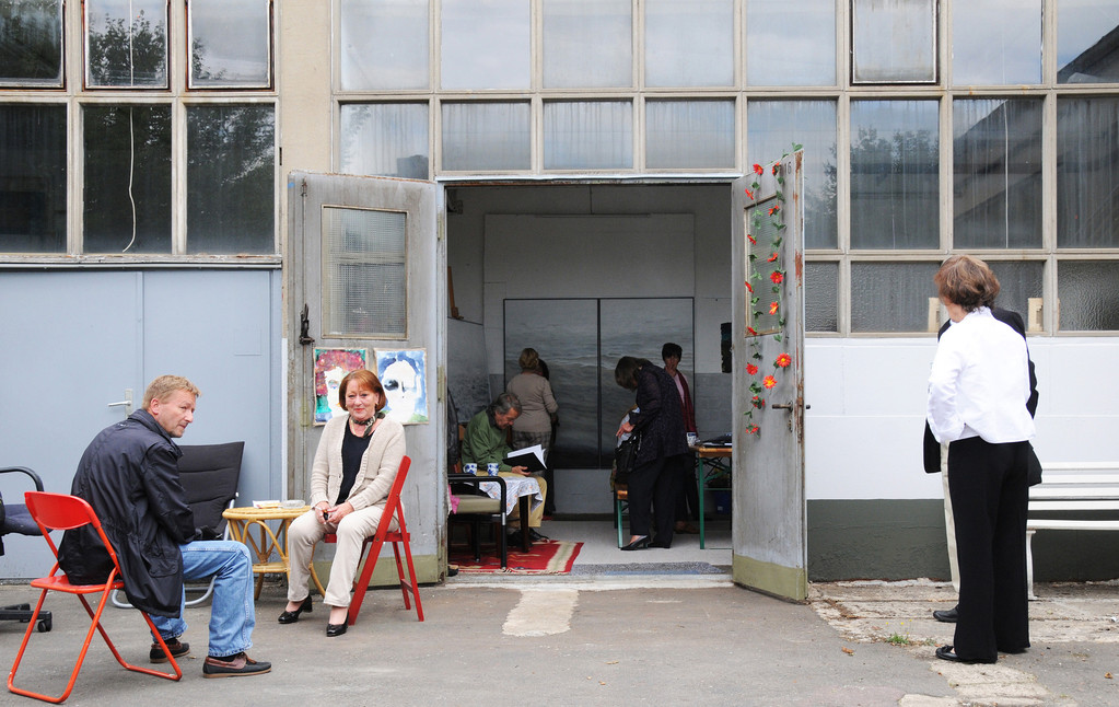 Atelierfest im Glashüttenweg, Lübeck, Juni 2011