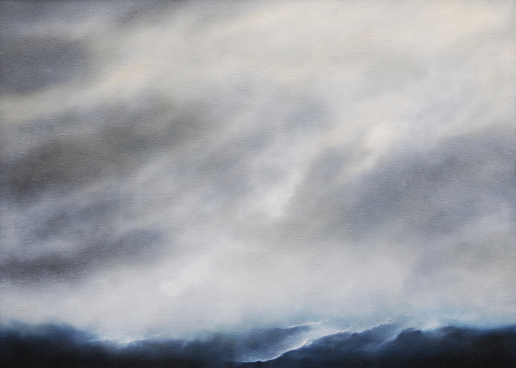 OHNE TITEL, 2015, Öl/Lwd. (grob strukturiert), 100 x 140cm