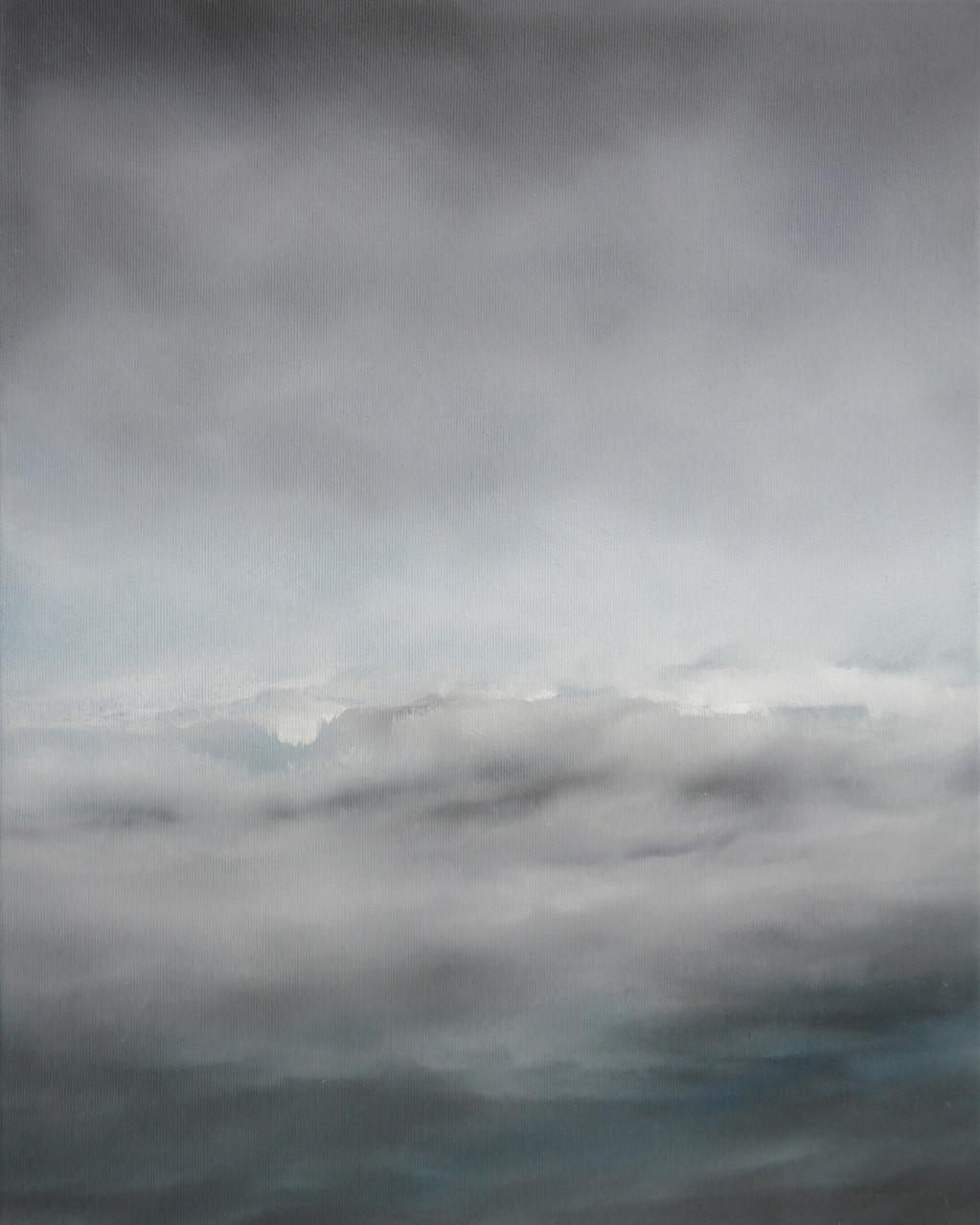 OHNE TITEL 1, 2014, Öl/Lwd., 50 x 40cm