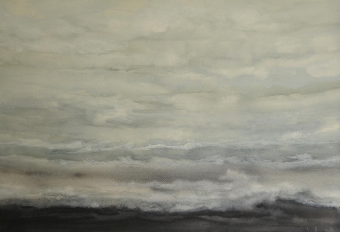 FARBEN DES MEERES, 2014, Aquarell, 43 x 63cm