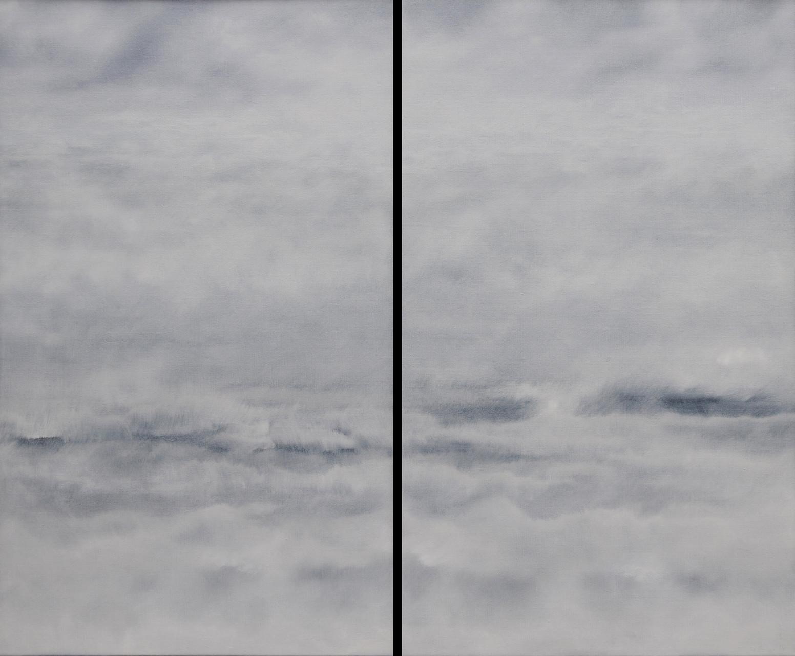 OHNE TITEL, Diptychon, 2015, Öl/Lwd., 2 x 100 x 60cm