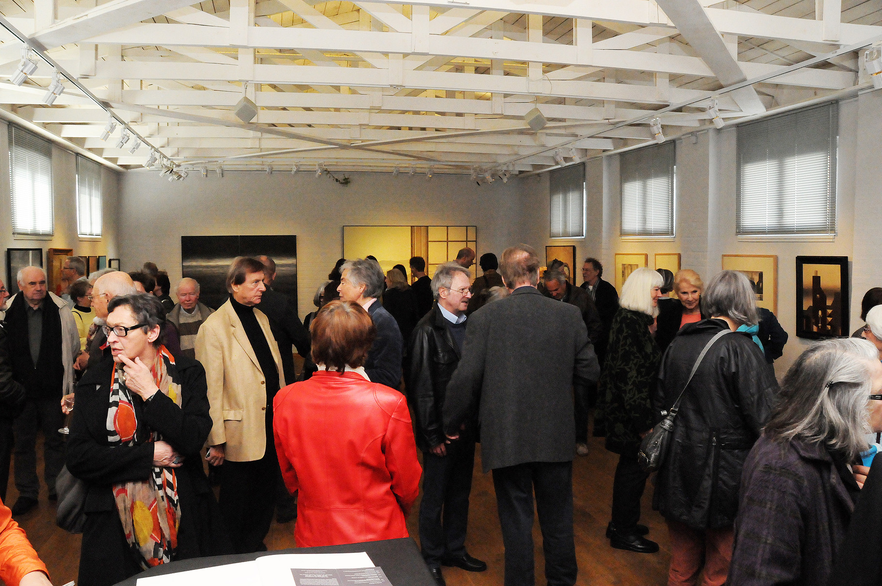 """""""VERÄNDERUNGEN, 45 JAHRE MALEREI"""", Galerie Essigfabrik, Lübeck, Vernissage, April 2014"""