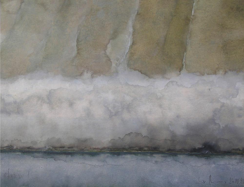 NORWEGEN 1, 2001, Aquarell, 23 x 29cm