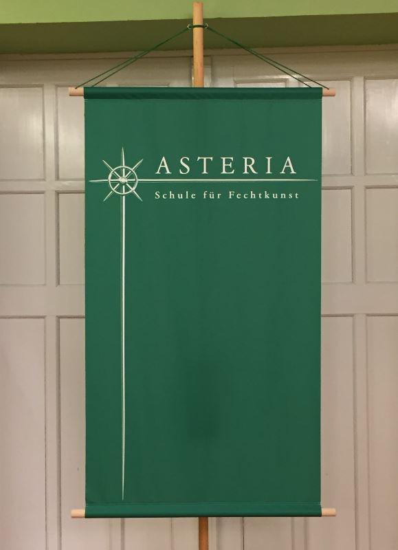 Neues Asteria Banner - anlässlich des 5. Geburtstags der Schule für Fechtkunst