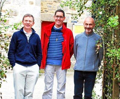 P. Christian Le Borgne, P. Mickaël Le Roux, P. Jacek Kwiek