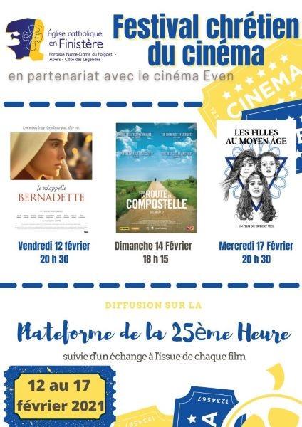 Festival chrétien du cinéma du 12 au 17 février 2021