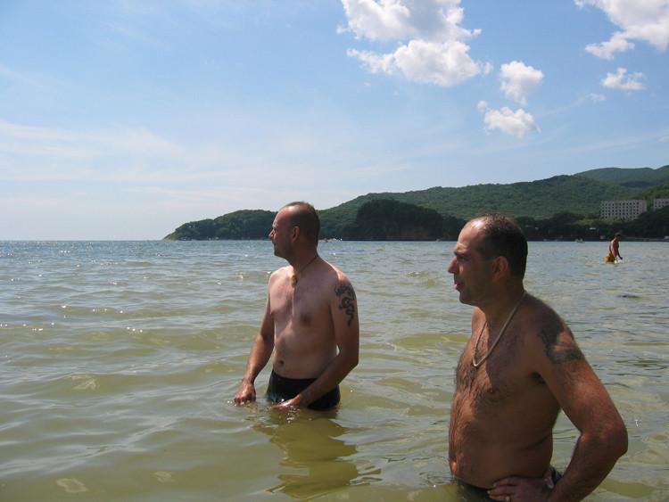 Männer im Pazifik