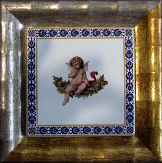 En Miniature: Kachel im Format 15 x 15 cm.