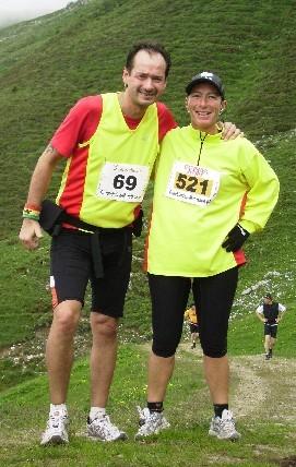 Foto-Stop beim Graubünden-Marathon.