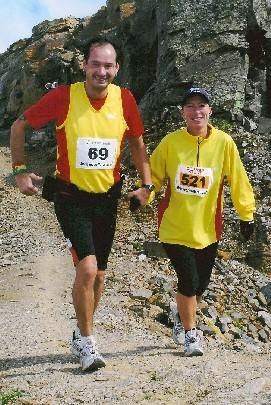 Beim Graubünden-Marathon 2007.
