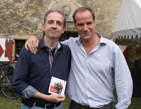 """Autor Frank Lauenroth gemeinsam mit Johannes Steck - dem Sprecher des Hörbuchs zu """"Boston Run"""""""