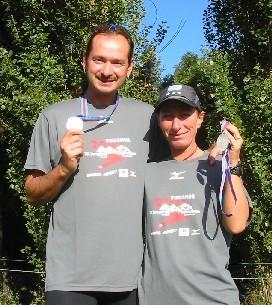 Mit der wohlverdienten Finisher-Medaille nach dem Jungfrau-Marathon.
