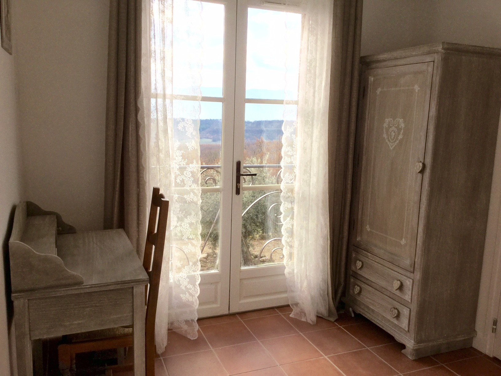 View on Luberon from the bedroom