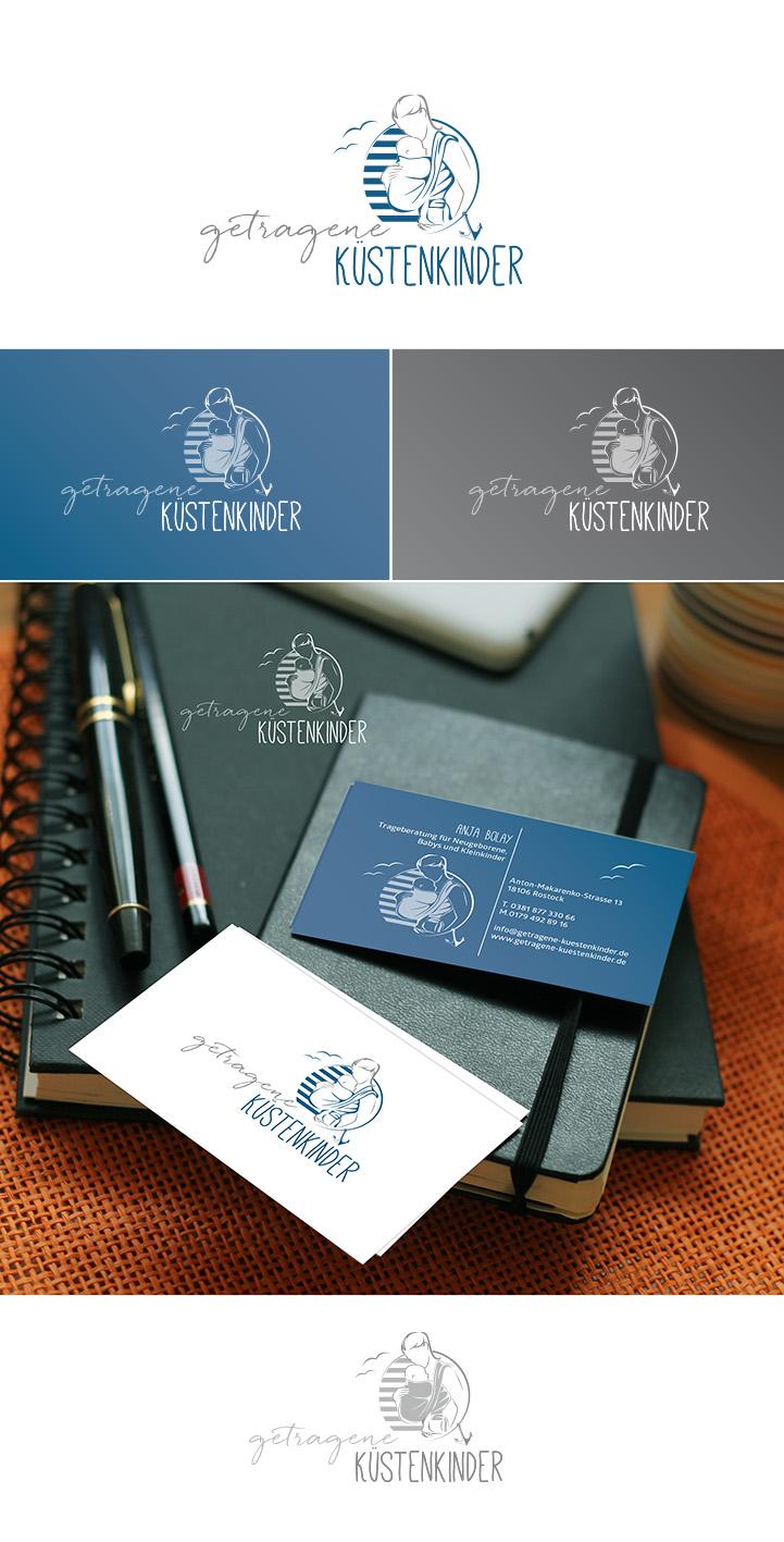 getragene Küstenkinder - Logo und Visitenkarte